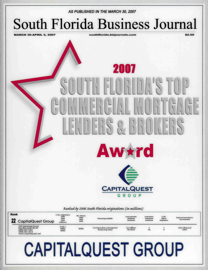 Commercial mortgage brokers florida
